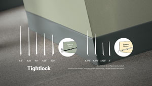 Tightlock Carpet Rubber Wall Base