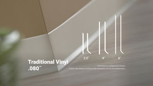 Traditional Vinyl 080in Wall Base